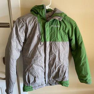 Boys Green and Grey Columbia Heavy Coat